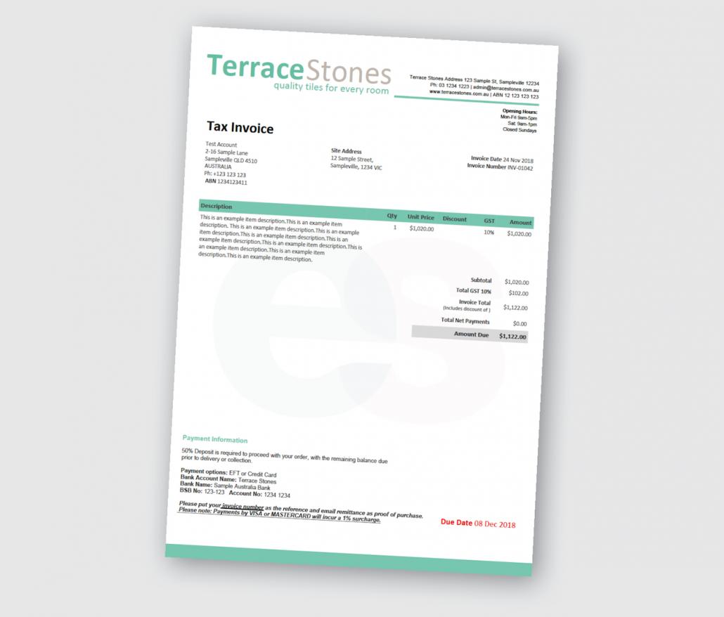 Custom Xero Templates Designed For Business Docx Branding Themes